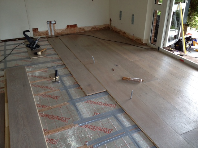Laying new floor boards